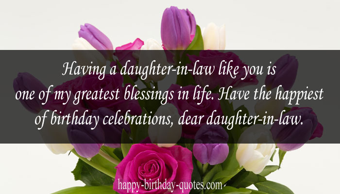 Birthday wishes for Daughter-in-law from grandma