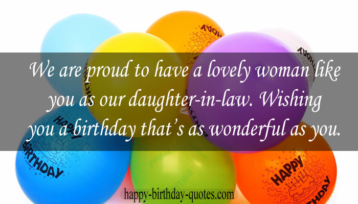 Birthday wishes for Daughter-in-law from grandpa
