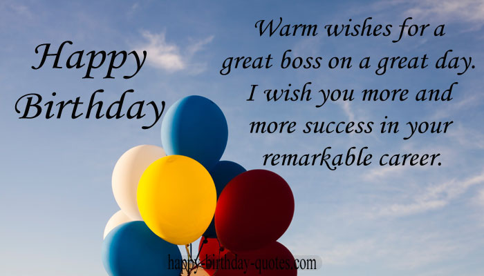 Happy birthday quotes for senior boss