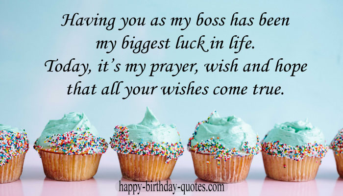 Happy Birthday For Boss Quotes
