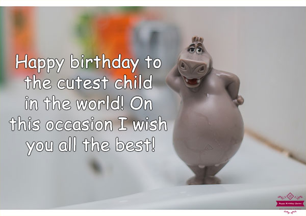 Happy Birthday Quotes For Kids