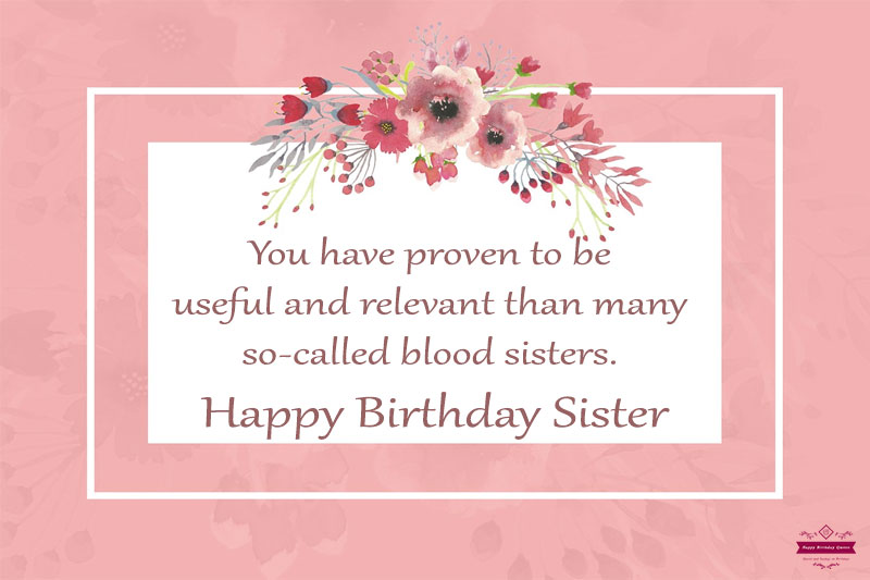 Happy Birthday Quotes for Sister From Another Mother