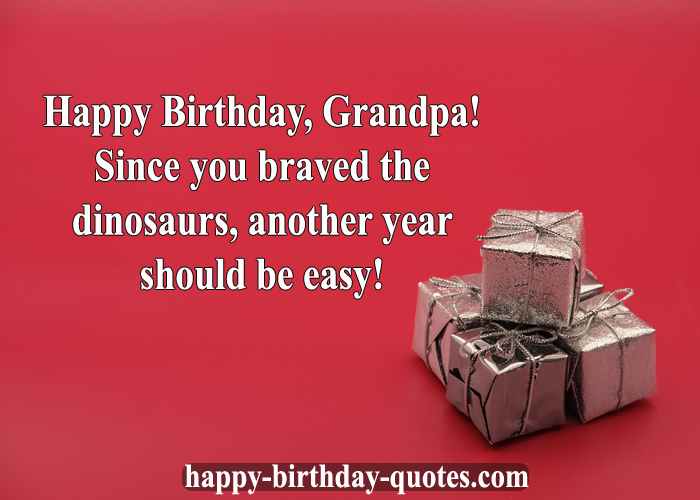 Happy birthday Wishes Grandfather with gift