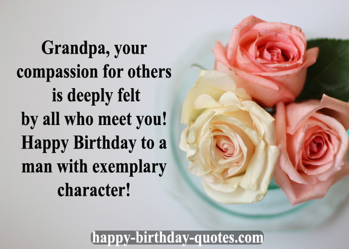 Happy birthday Wishes Grandfather
