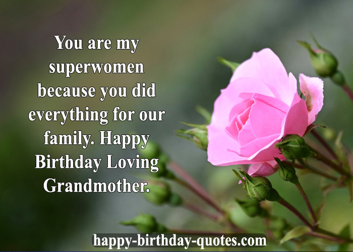birthday Wishes Grandmother