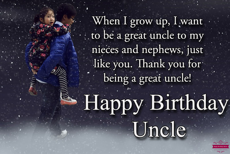Birthday Quotes or Uncle