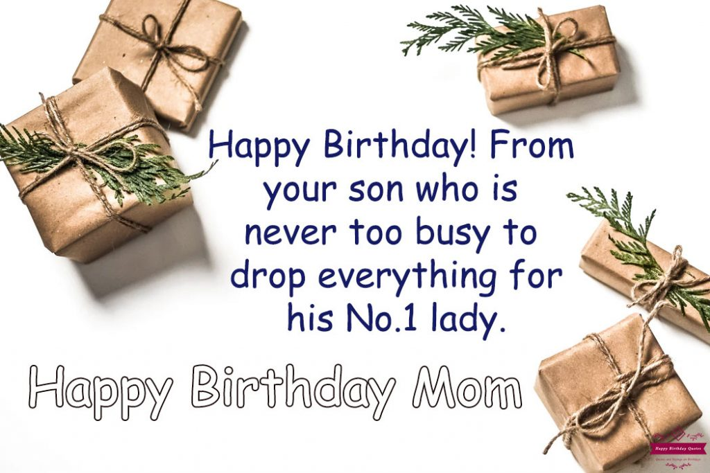 Happy Birthday Wishes to Mom From Son