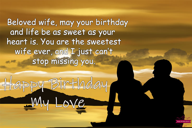 long distance Quotes for wife birthday