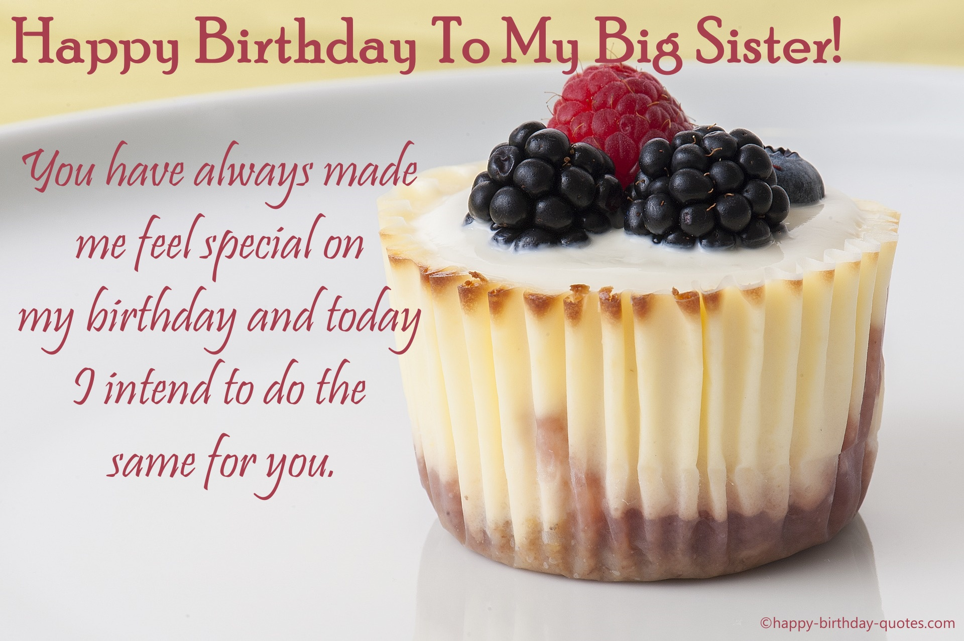 Birthday Wishes For Big Sister