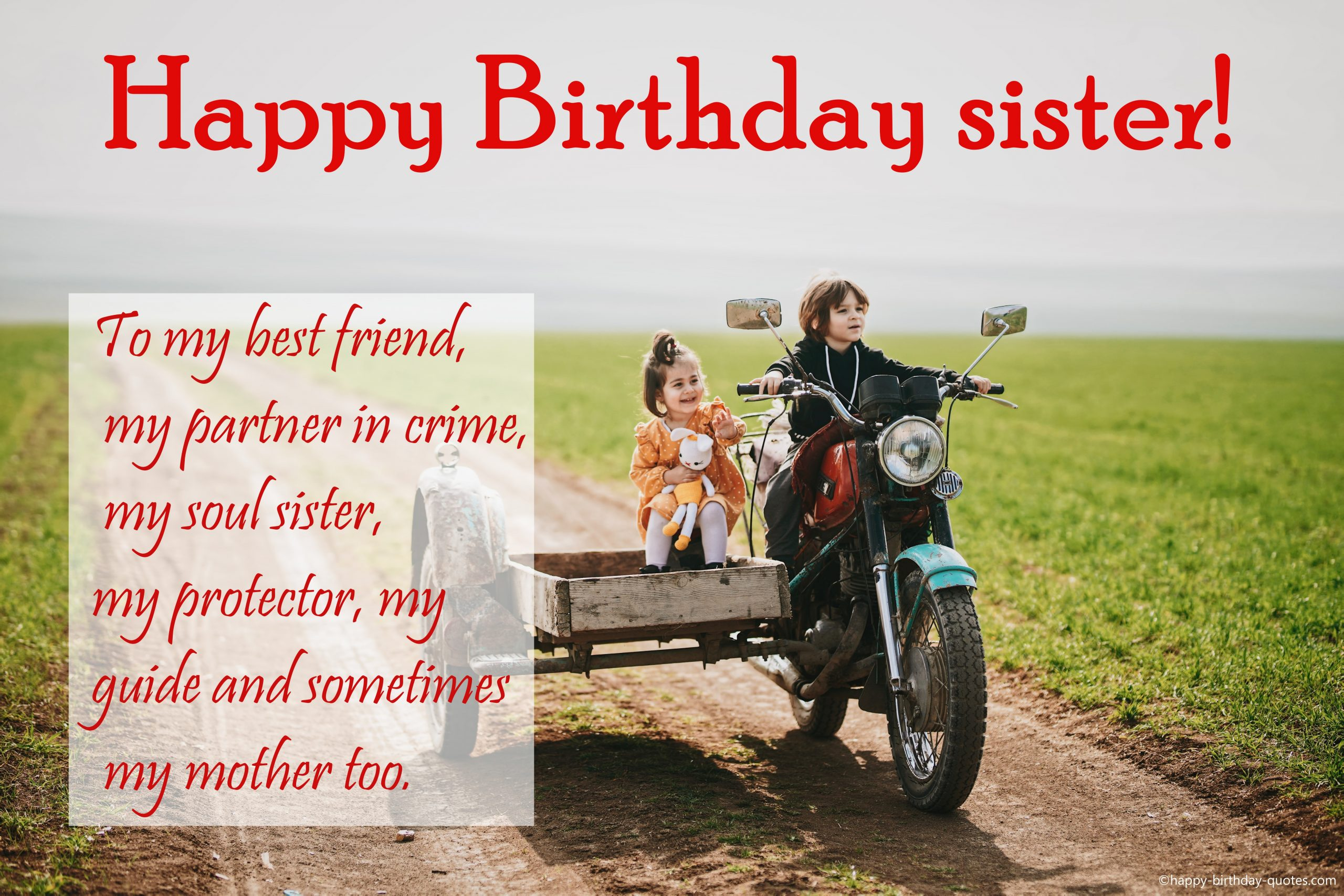 Heart Touching, Emotional Birthday Wishes For Sister